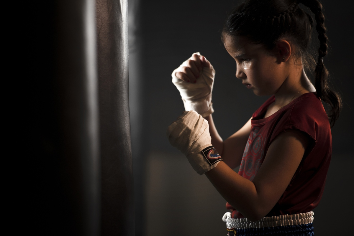 kick boxing: benefici per donna e bambini