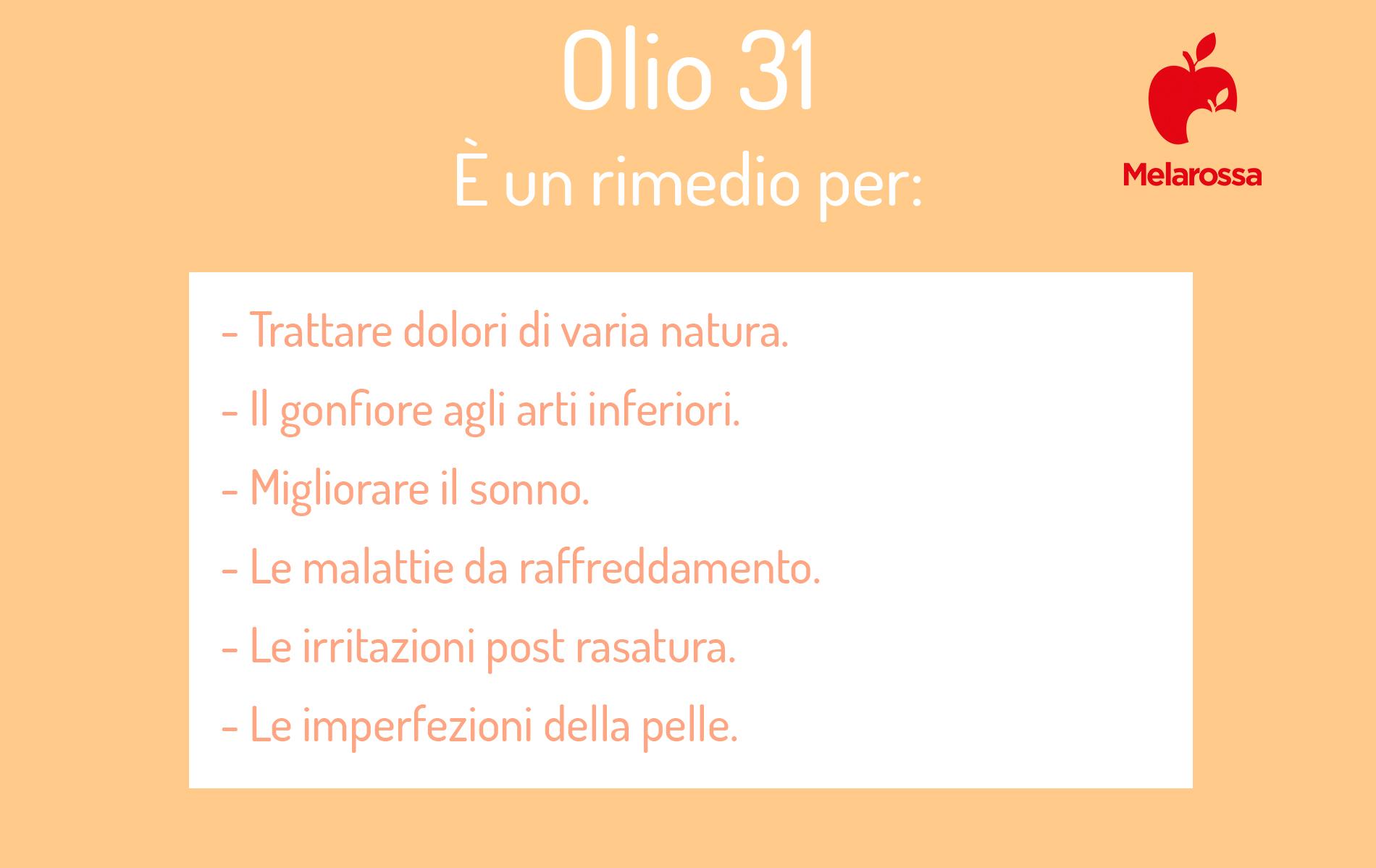 olio 31: rimedio naturale efficace