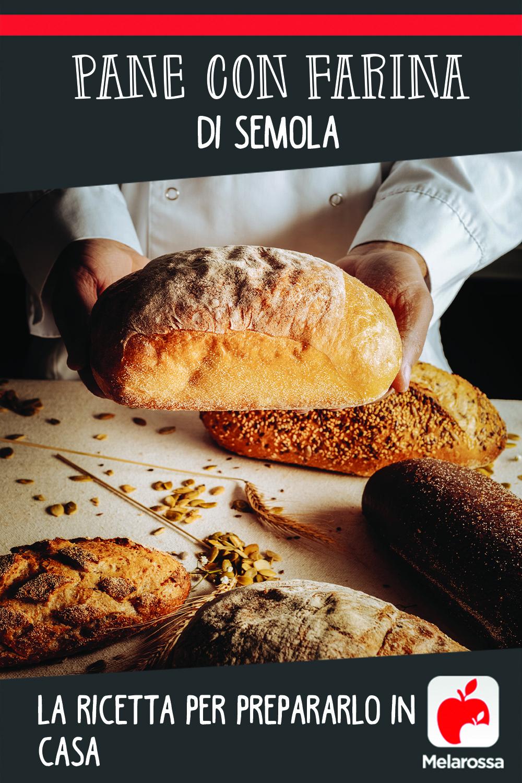pane con farina di semola da preparare in casa