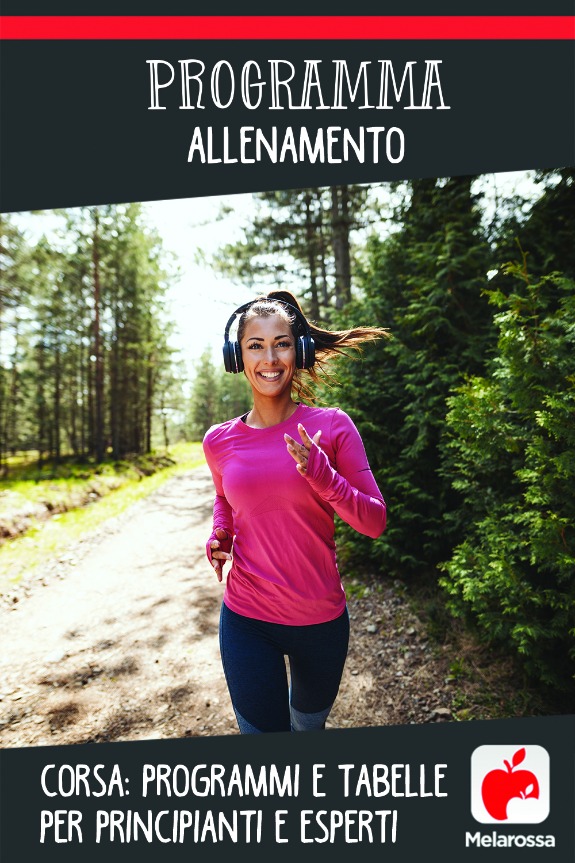 programma allenamento corsa per principianti, intermedi e avanzati: tavbella