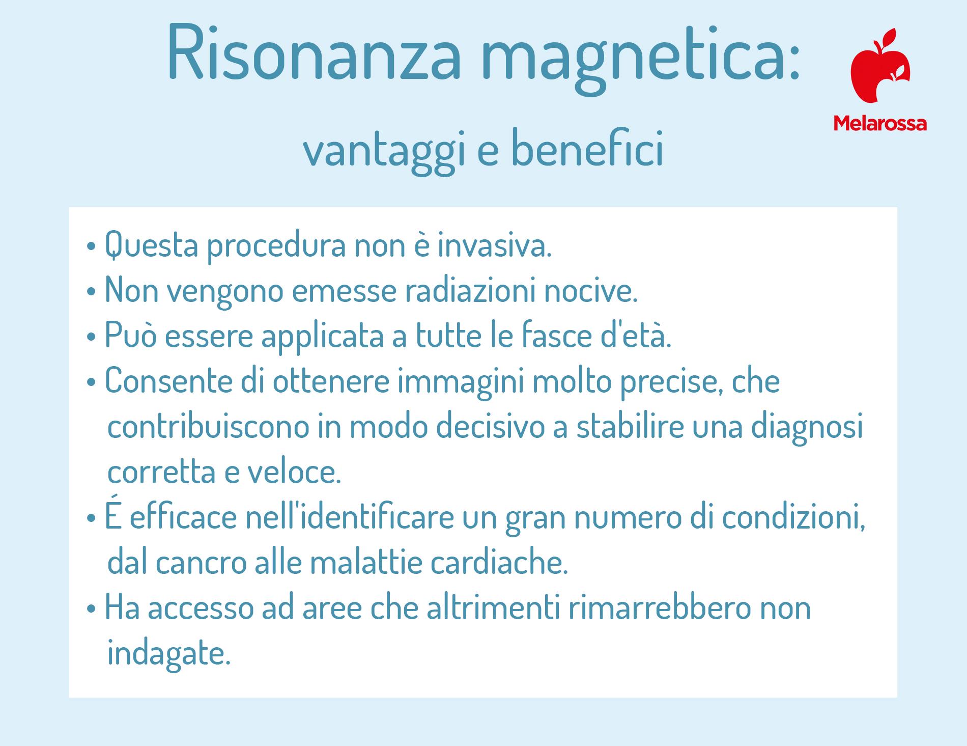 risonanza magnetica: benefici