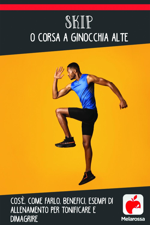 skip o corsa a ginocchia alte : programmi di allenamento