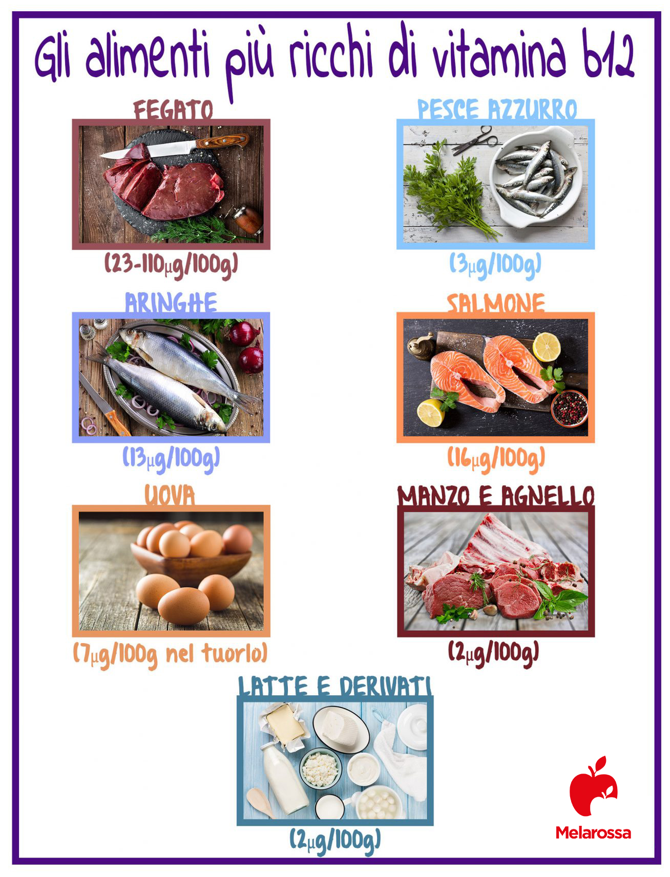 alimenti più ricchi di vitamina B12