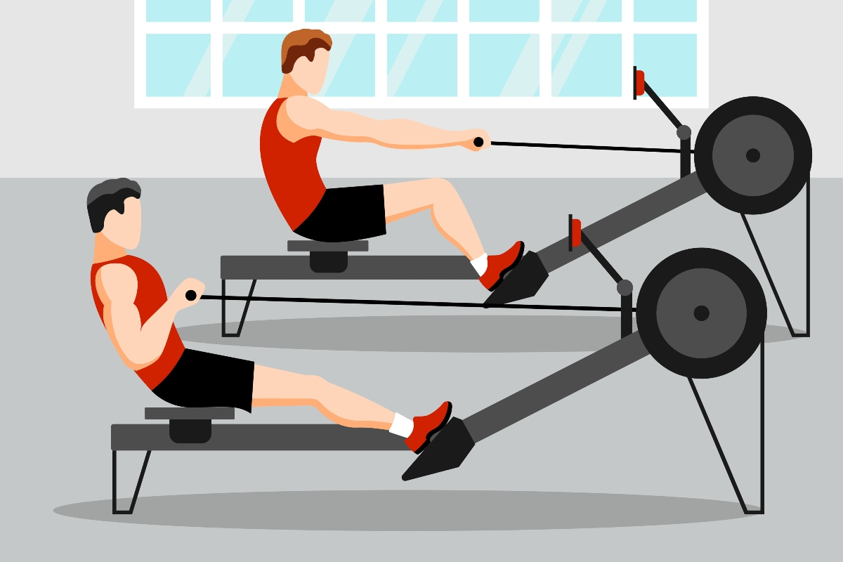 canottaggio: allenamento indoor rowing