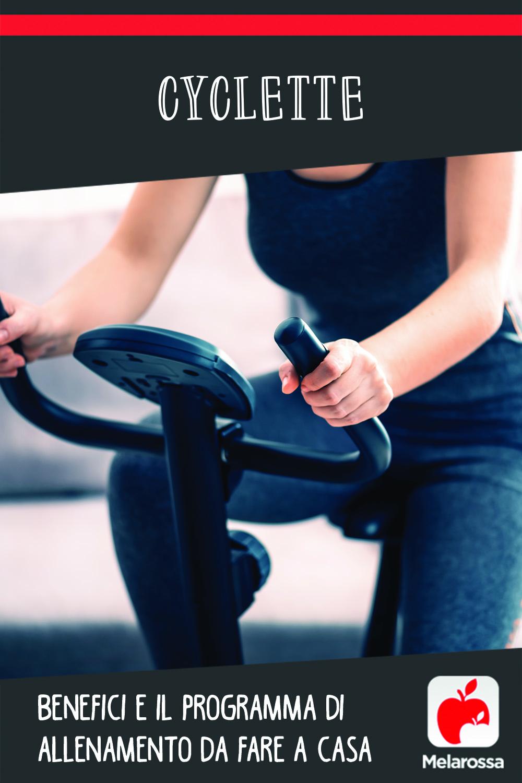 Cyclette: benefici e il programma di allenamento da fare a casa