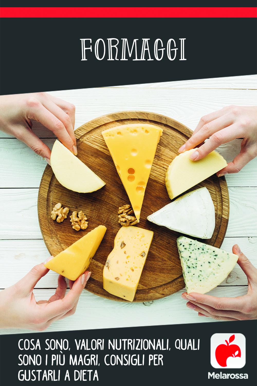 formaggi: cosa sono, come gustarli a dieta, valori nutrizionali