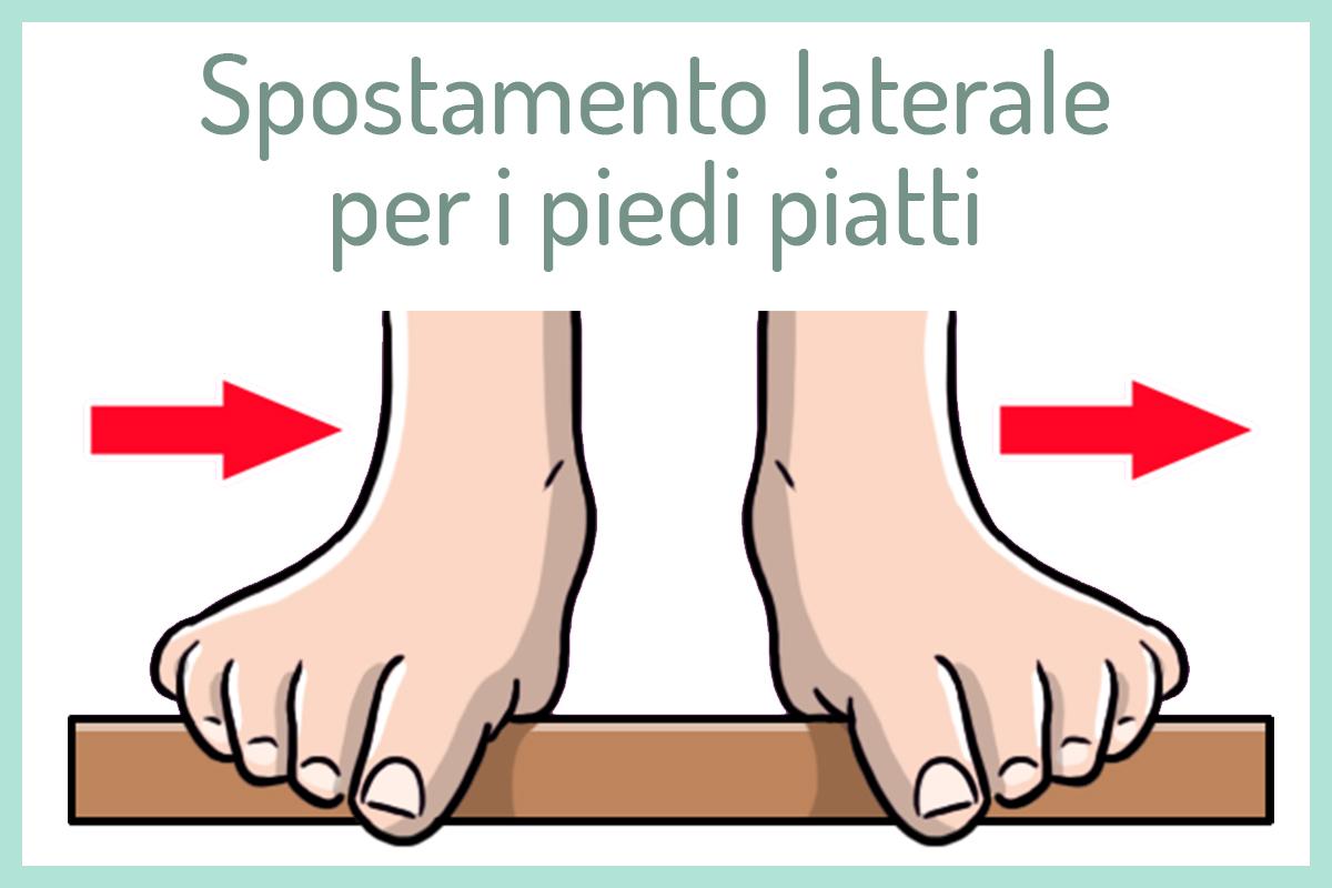Per i piedi piatti: spostamento laterale