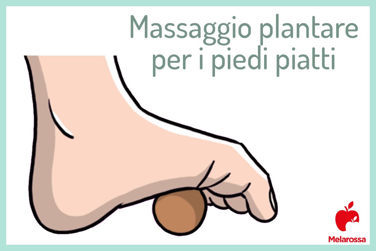 massaggio plantare per i piedi piatti