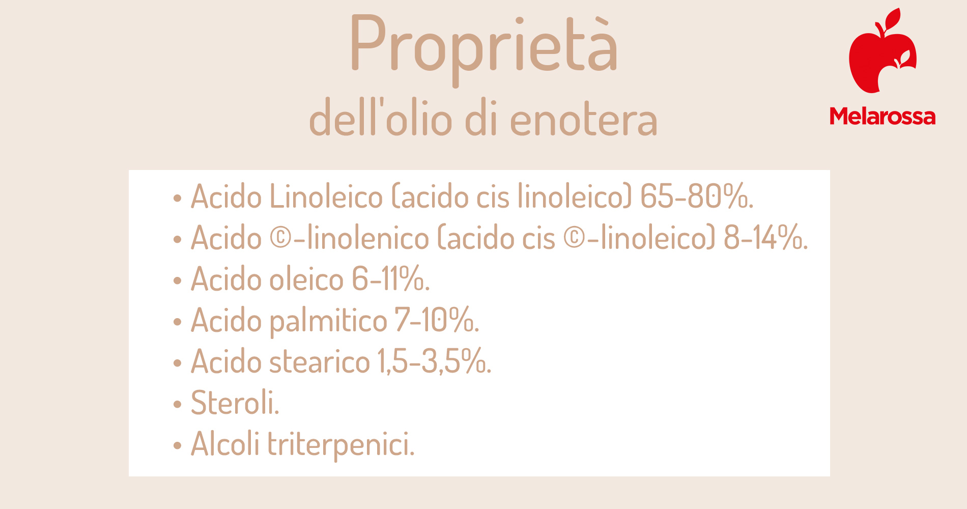 olio di enotera: proprietà