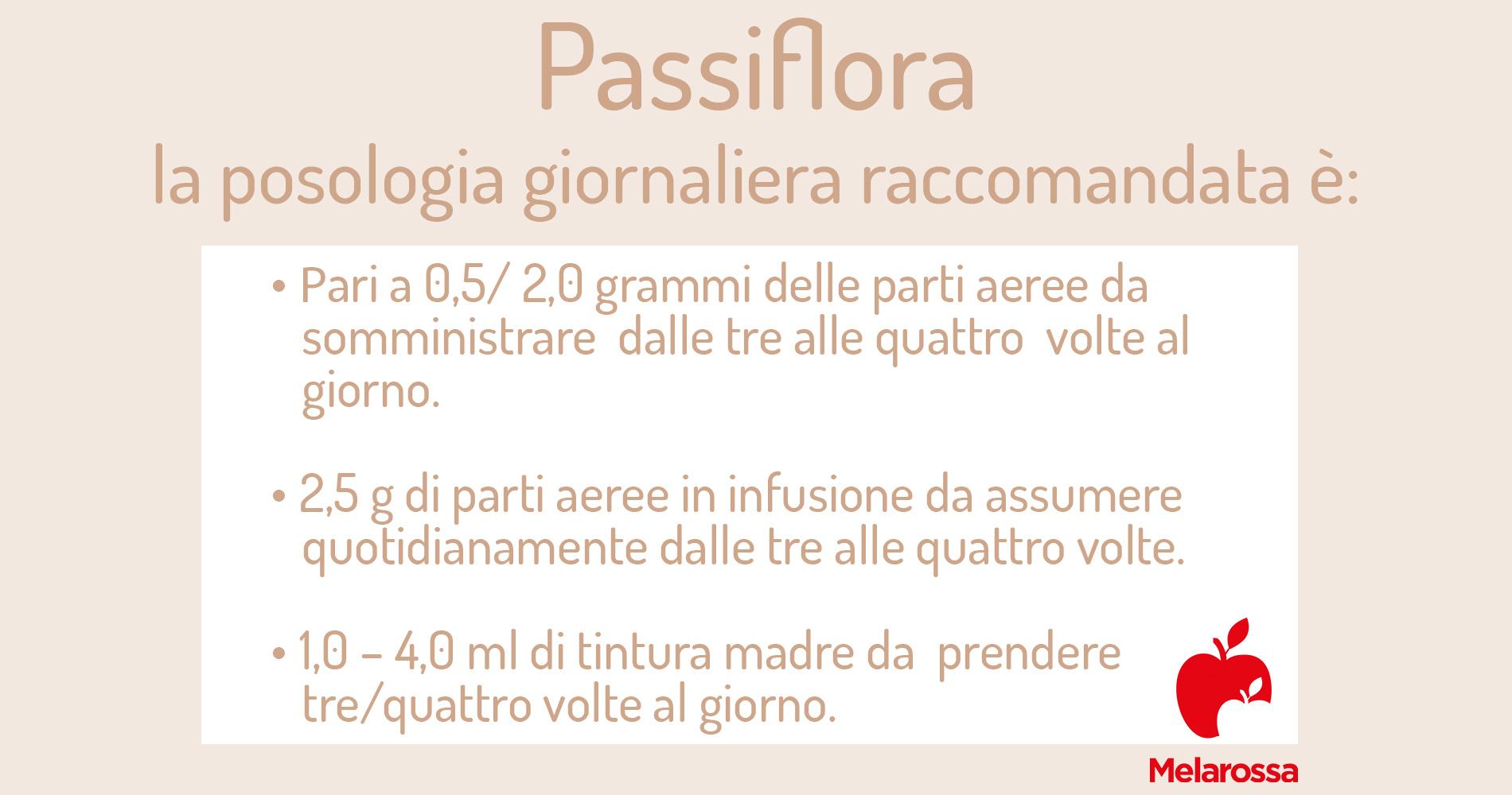 passiflora: posologia