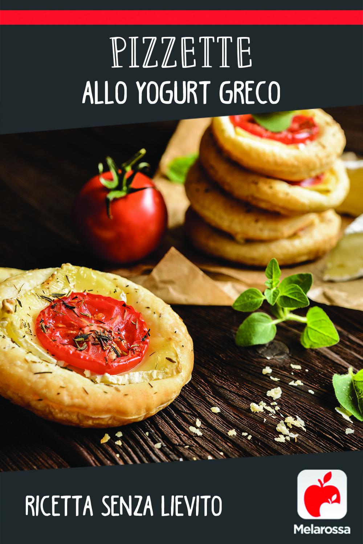 pizzetta allo yogurt greco senza lievito