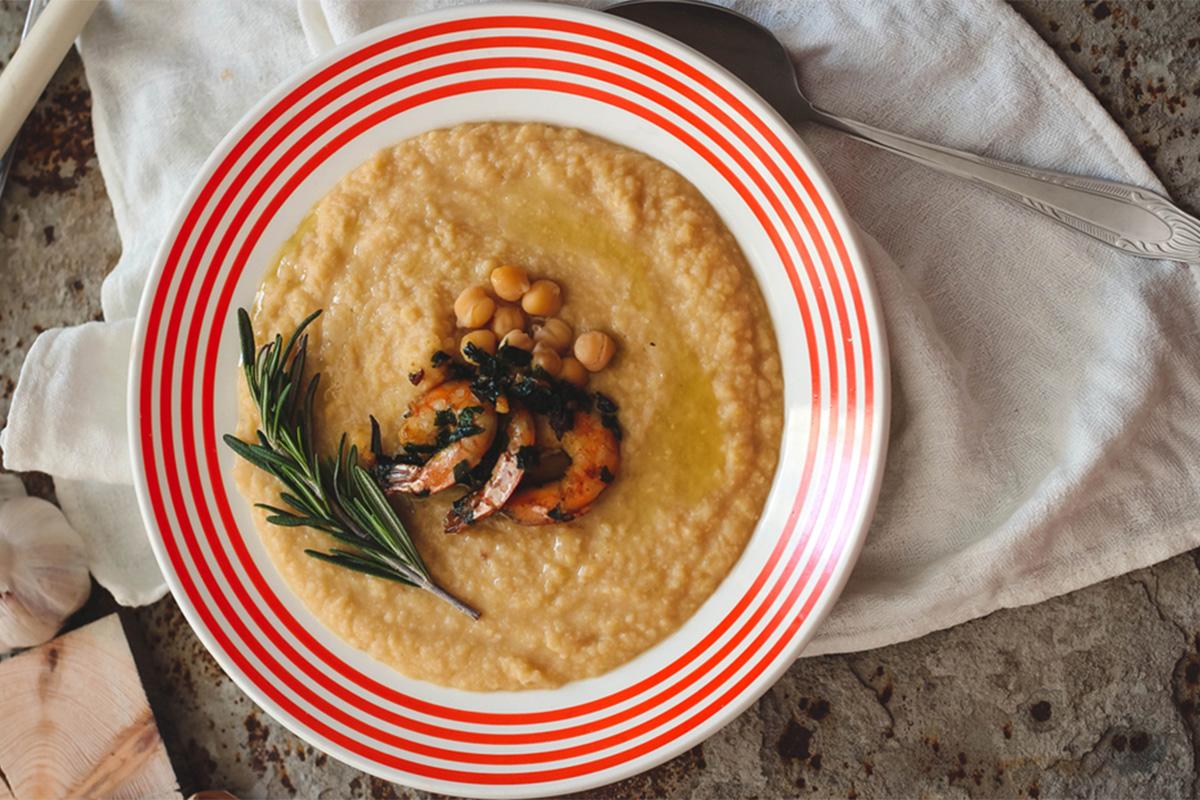 Ricette con gamberi: vellutata