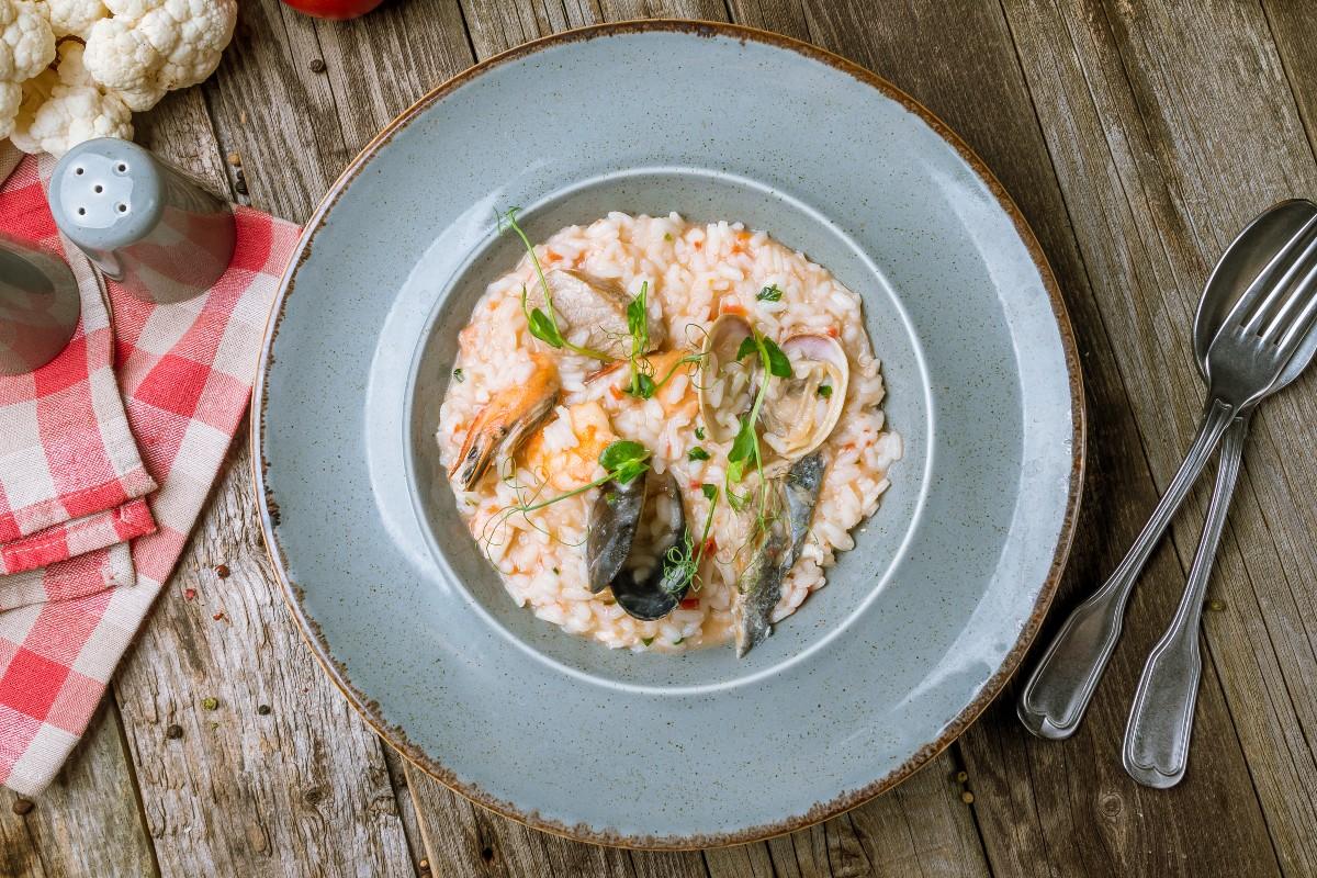 Ricette con riso: risotto ai frutti di mare