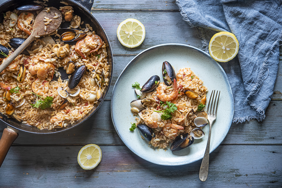Ricette con riso: risotto alla pescatora