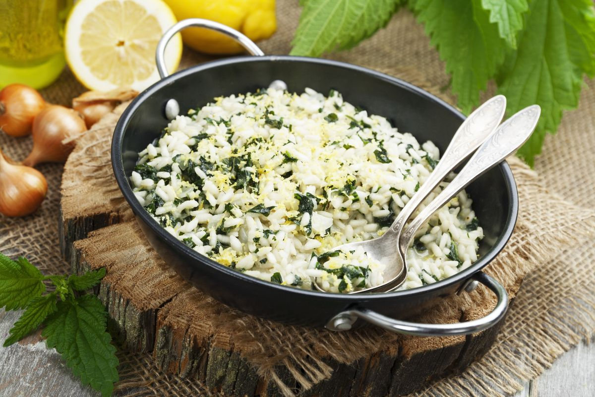 Ricette con riso: risotto alle ortiche