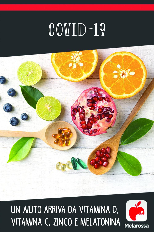 Covid-19: un aiuto arriva da vitamina D, vitamina C, zinco e melatonina