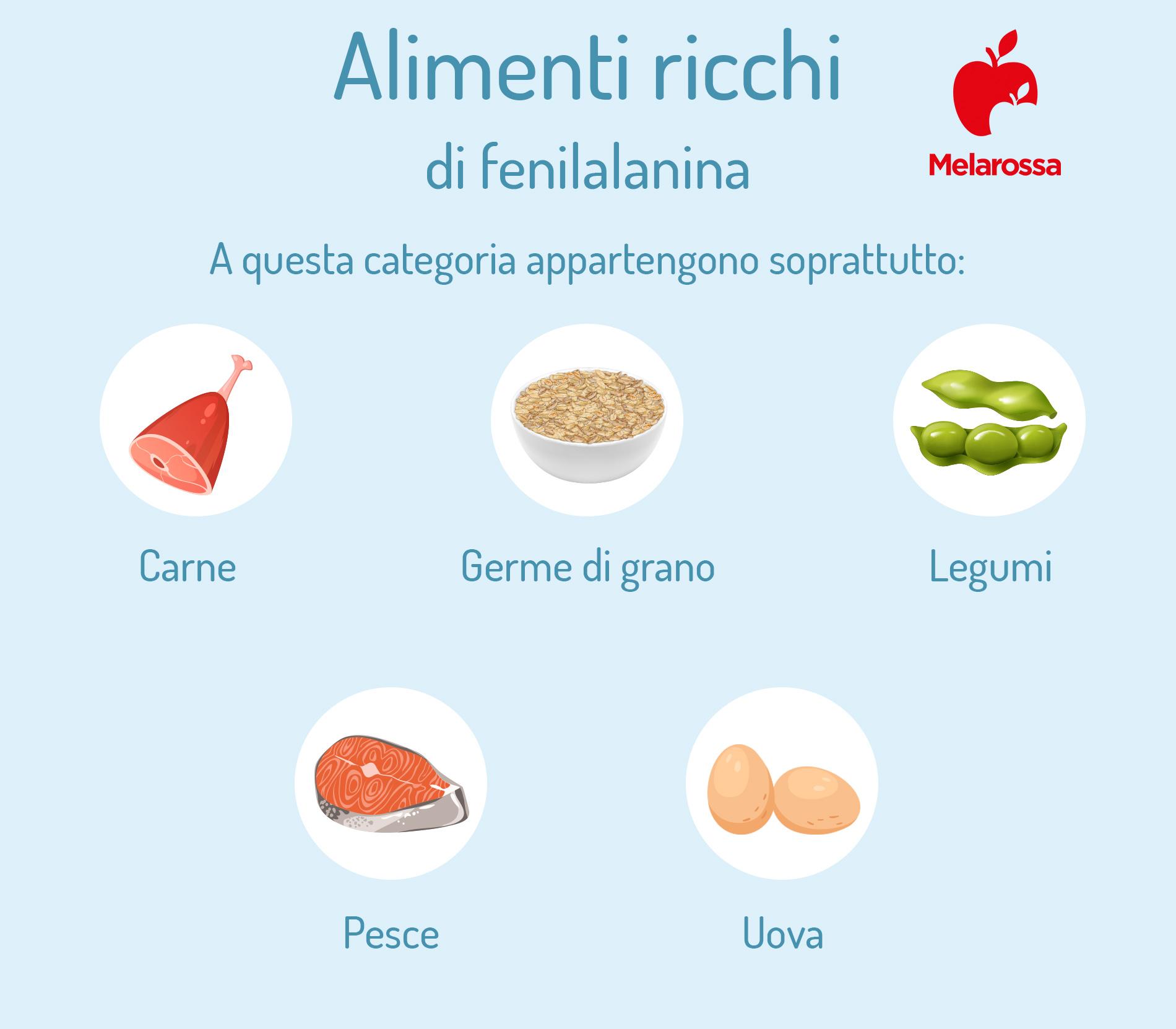 dopamina: alimenti ricchi di fenilalanina