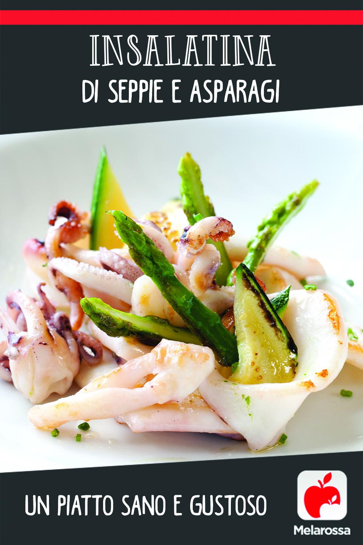 Insalatina di seppie e asparagi, un piatto sano e gustoso