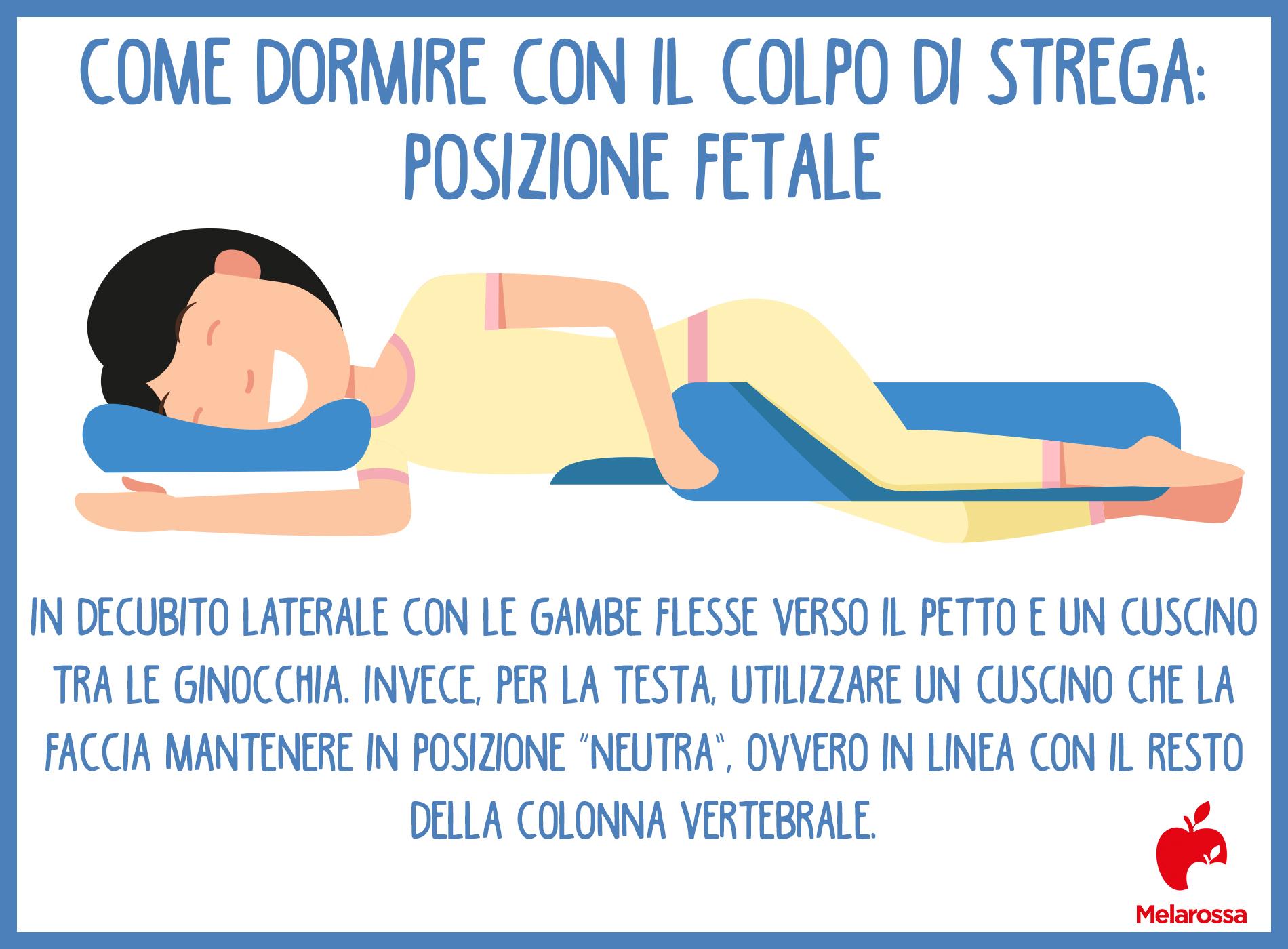 mal di schiena: posizioni per dormire con il colpo della strega