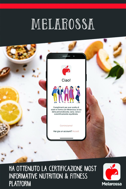 Melarossa ha ottenuto la certificazione Most Informative Nutrition & Fitness Platform