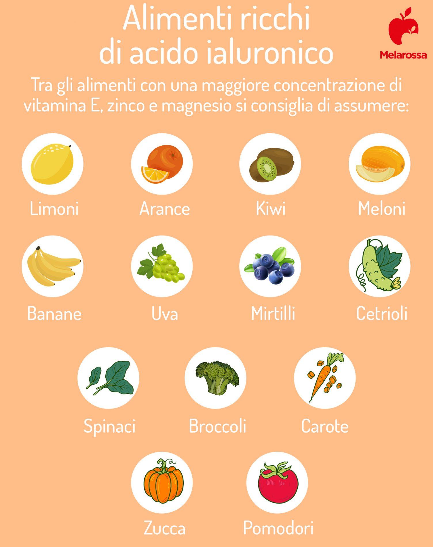alimenti ricchi di acido ialuronico