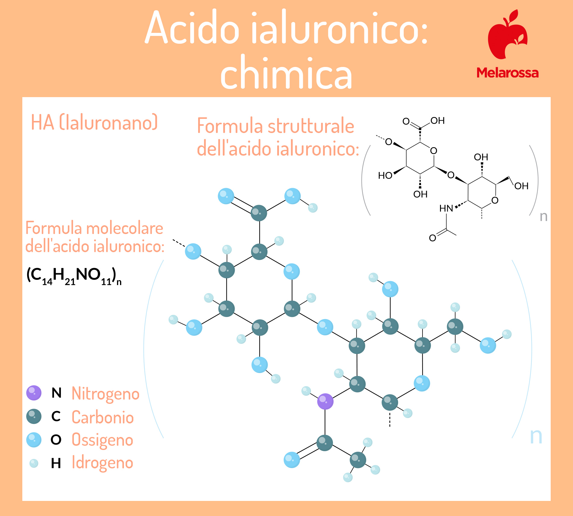 acido aiuluronico: struttura chimica