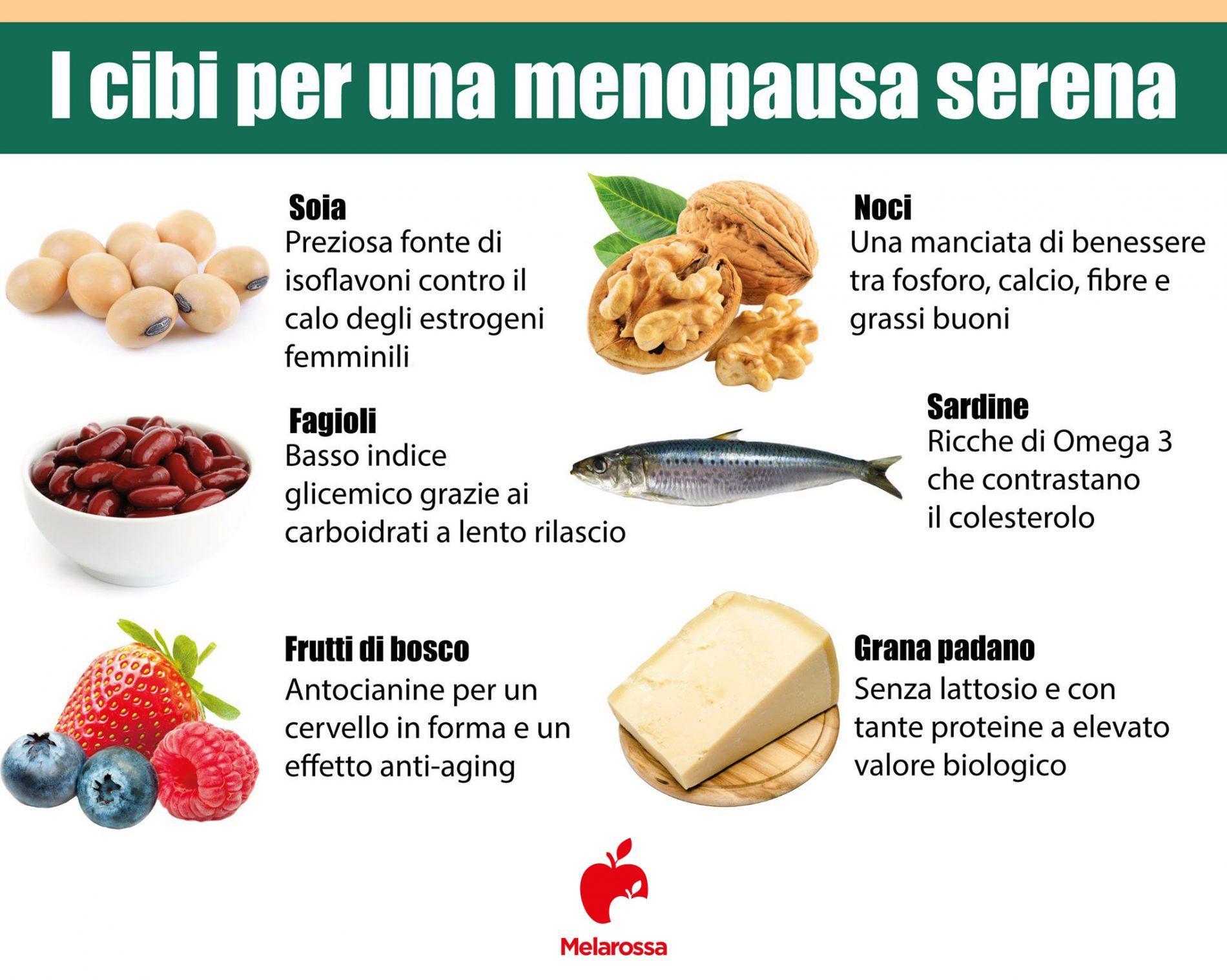 dieta in menopausa: cibi per alleviare  i sintomi