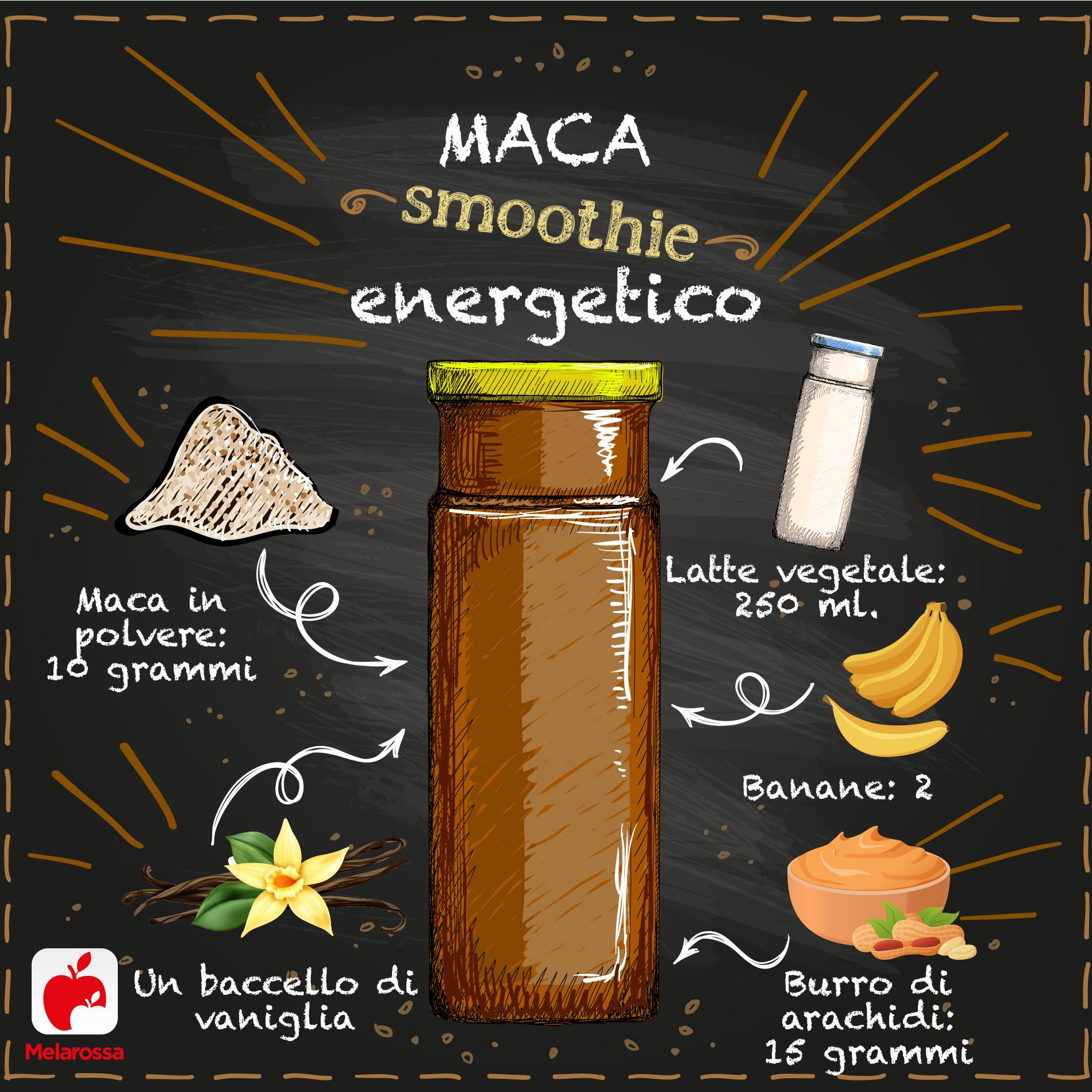 smoothie con maca per fare il pieno di energia