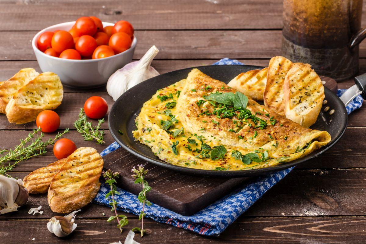 Omelette: un pranzo leggero e nutriente