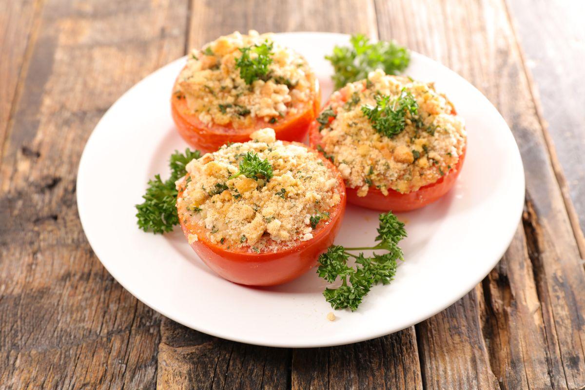 pomodori gratinati: leggeri e deliziosi