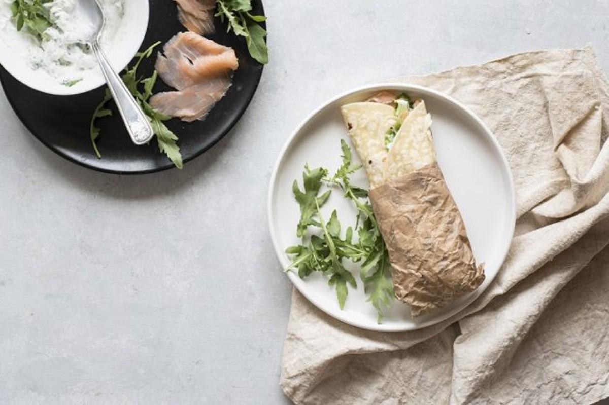 Ricette con salmone: piadina con salmone