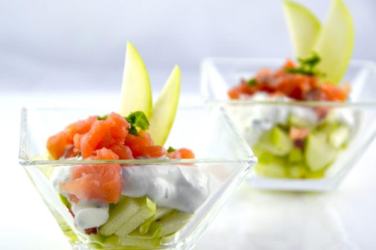 Ricette con salmone: tartare salmone e mela verde