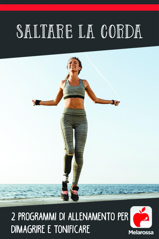saltare la corda: programma di allenamento per dimagrire e tonificare