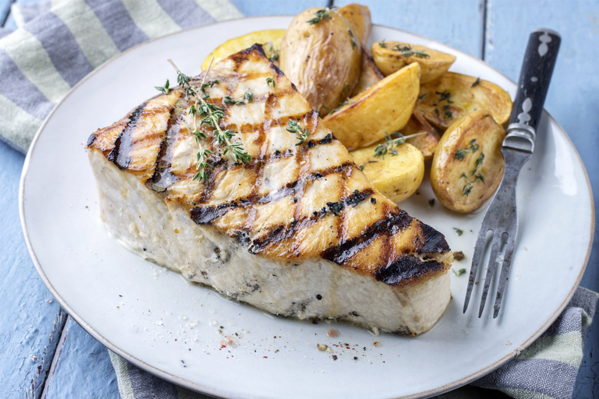 Alimenti con meno di 120 calorie: pesce spada