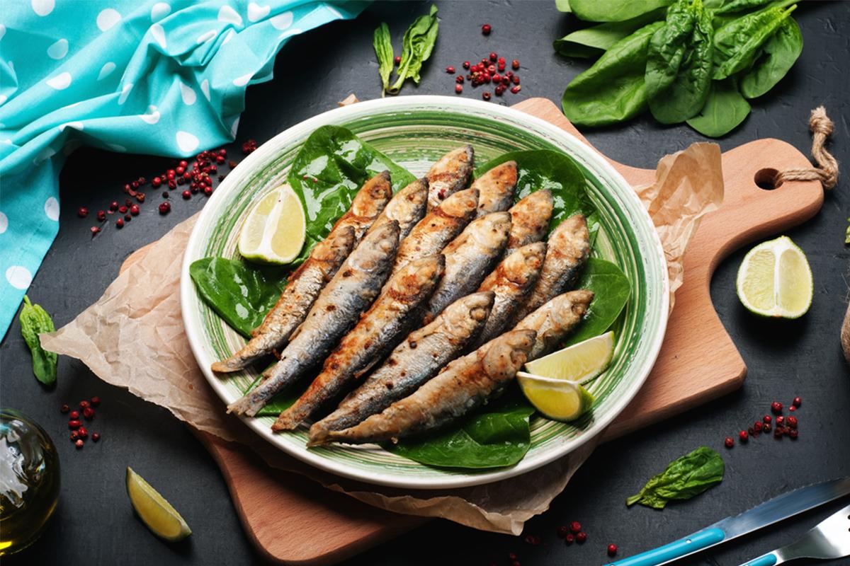 Alimenti con meno di 120 calorie: sardine