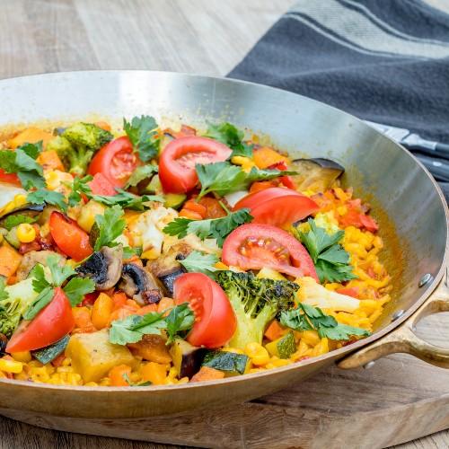 paella vegetariana ricetta