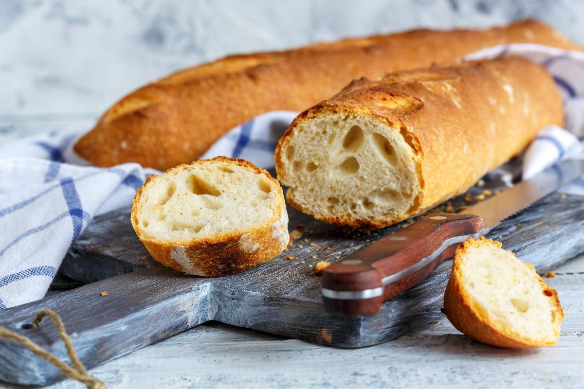 pane bianco fatto in casa con la farina di manitoba