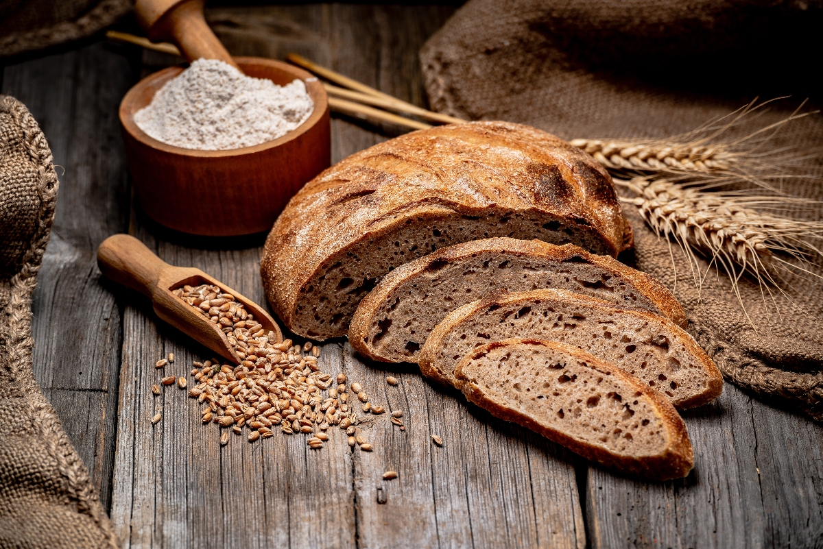 pane integrale con farina di manitoba