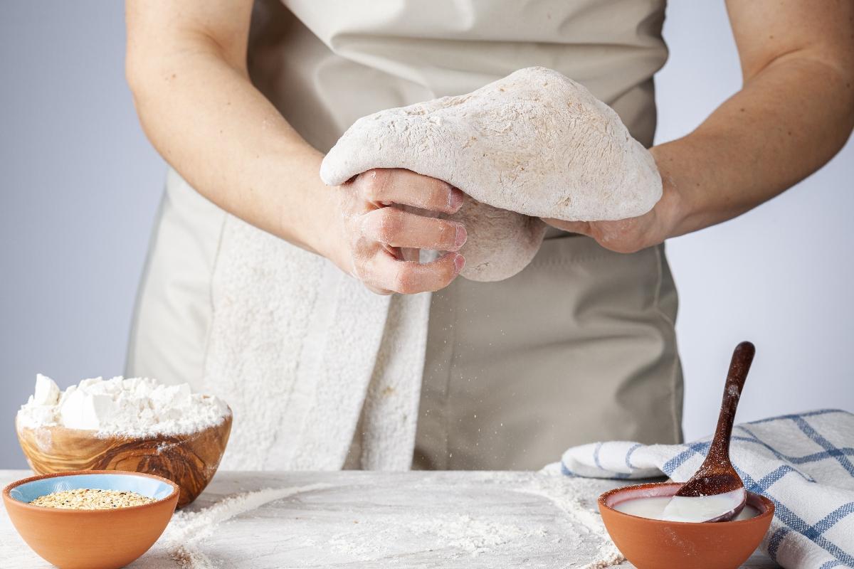 pizza integrale con farina di manitoba