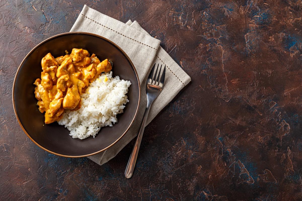 pollo al cocco con riso