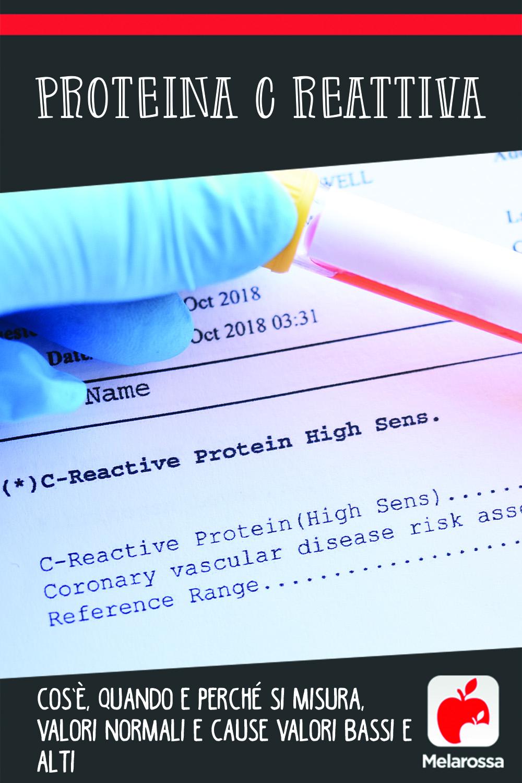 proteina C reattiva: cos'è, perché fare l'esame , valori normali, medi e alti, patologie
