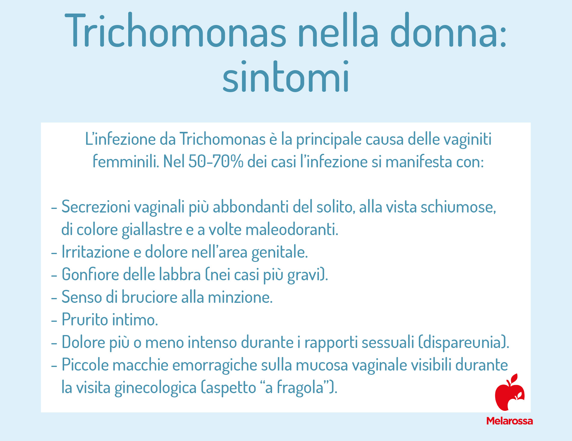 tricomoniasi: sintomi nella donna