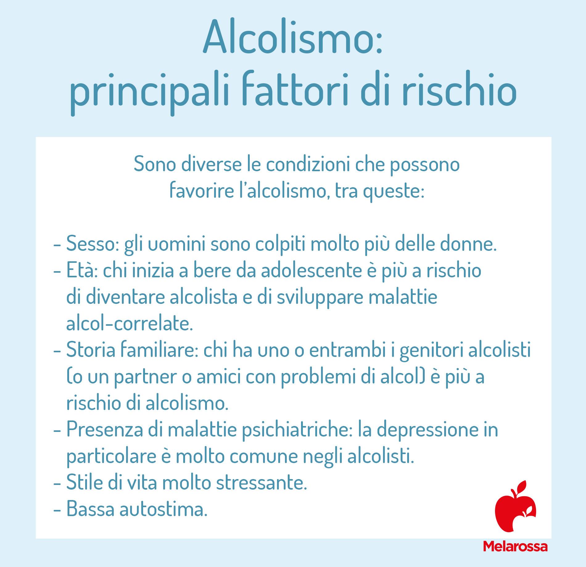alcolismo: fattori di rischio