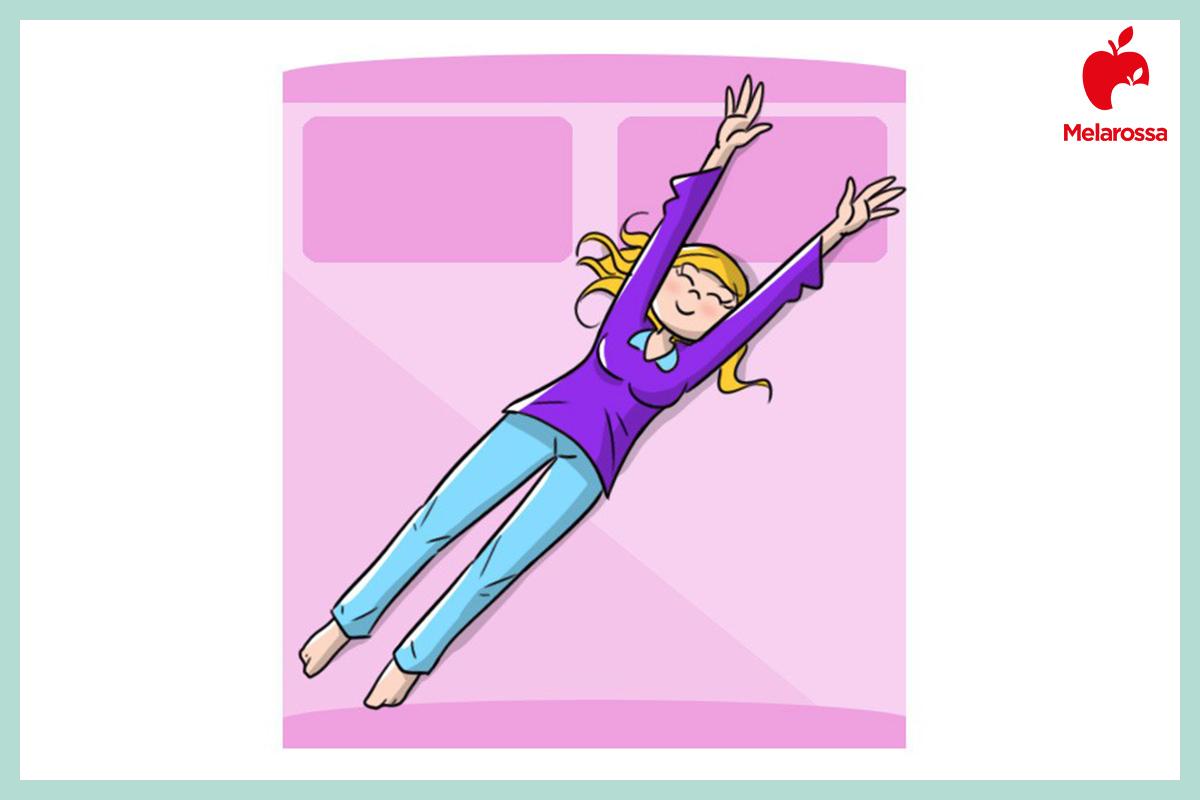 circolazione sanguigna: stretching appena alzato
