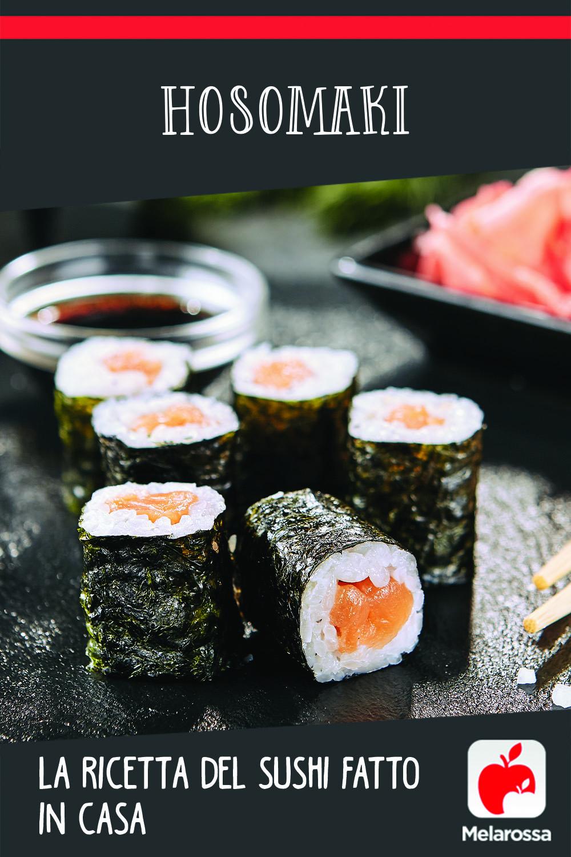 hosomaki sushi: ricetta