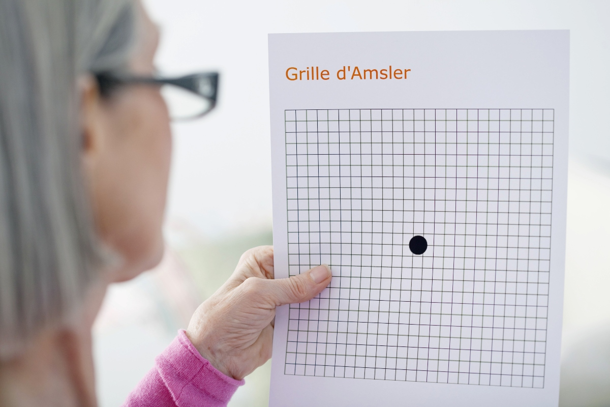 Maculopatia: test di Amsler