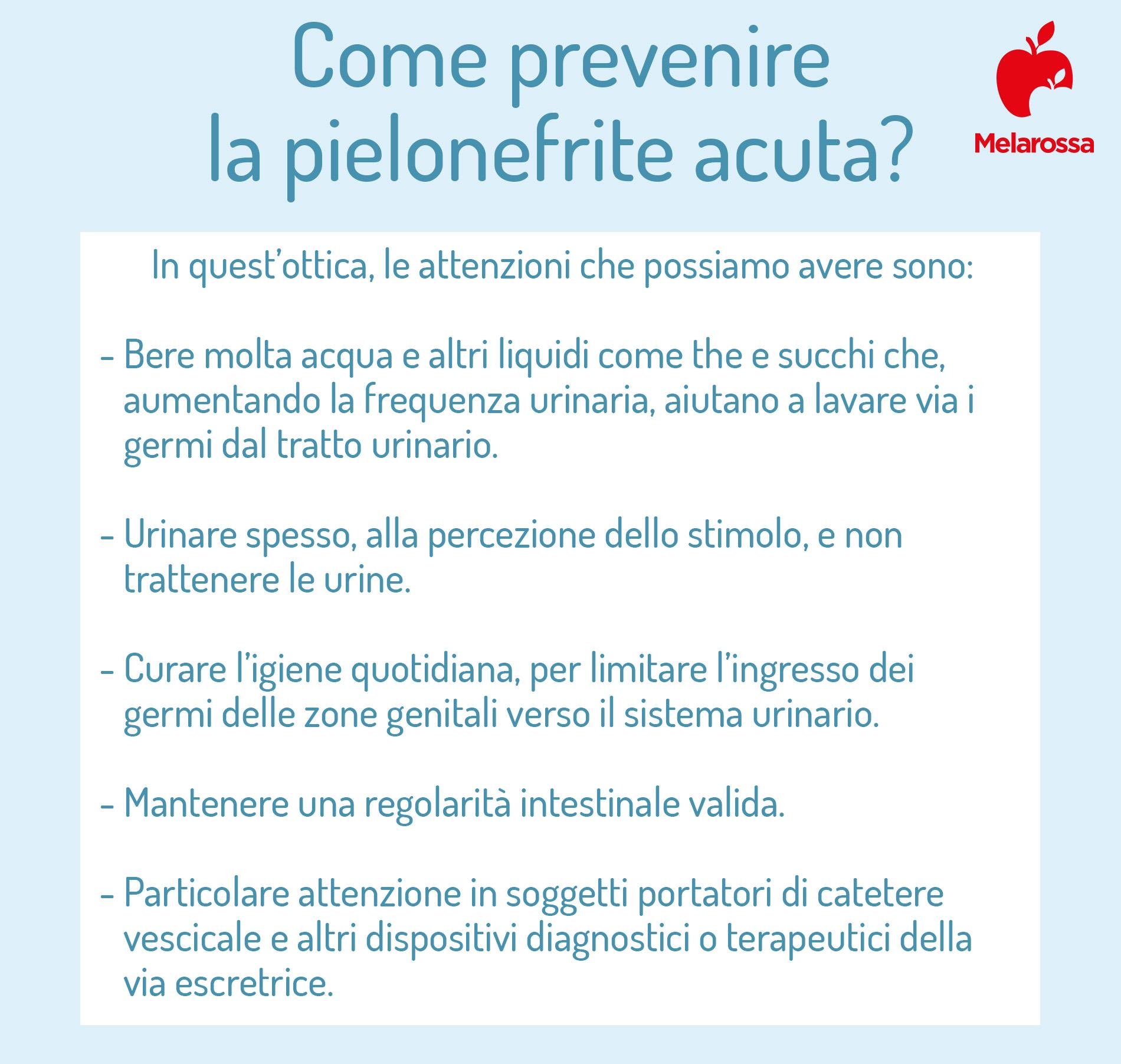 pielonefrite acuta: prevenzione