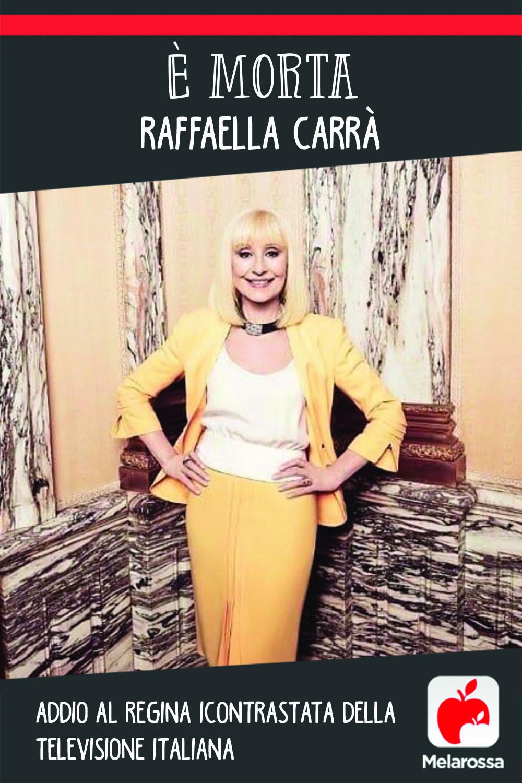 È morta Raffaella Carrà: addio alla regina incontrastata della televisione italiana