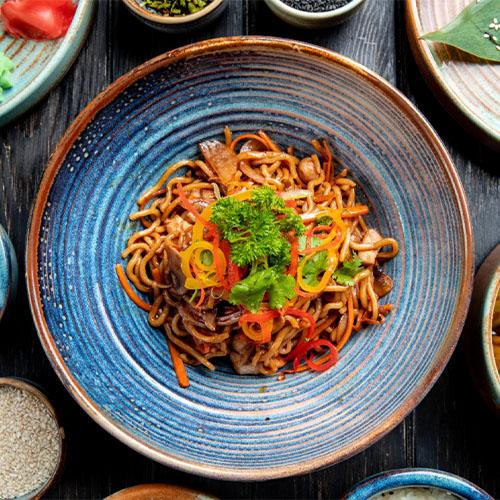 Spaghetti di soia con verdure la ricetta