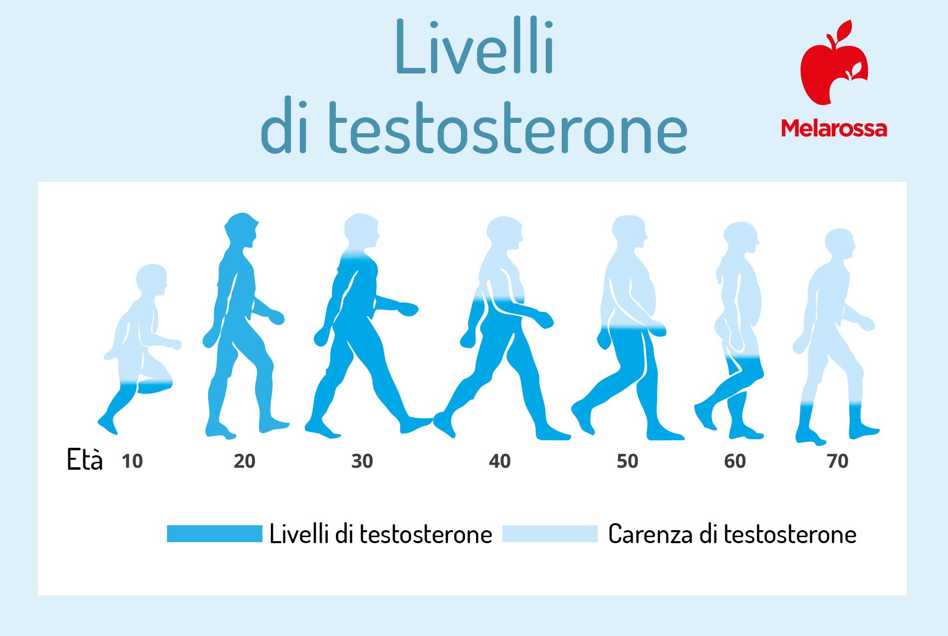 livelli di testosterone nella vita